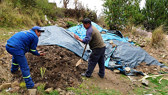 San Blas community compost, processed from organic waste